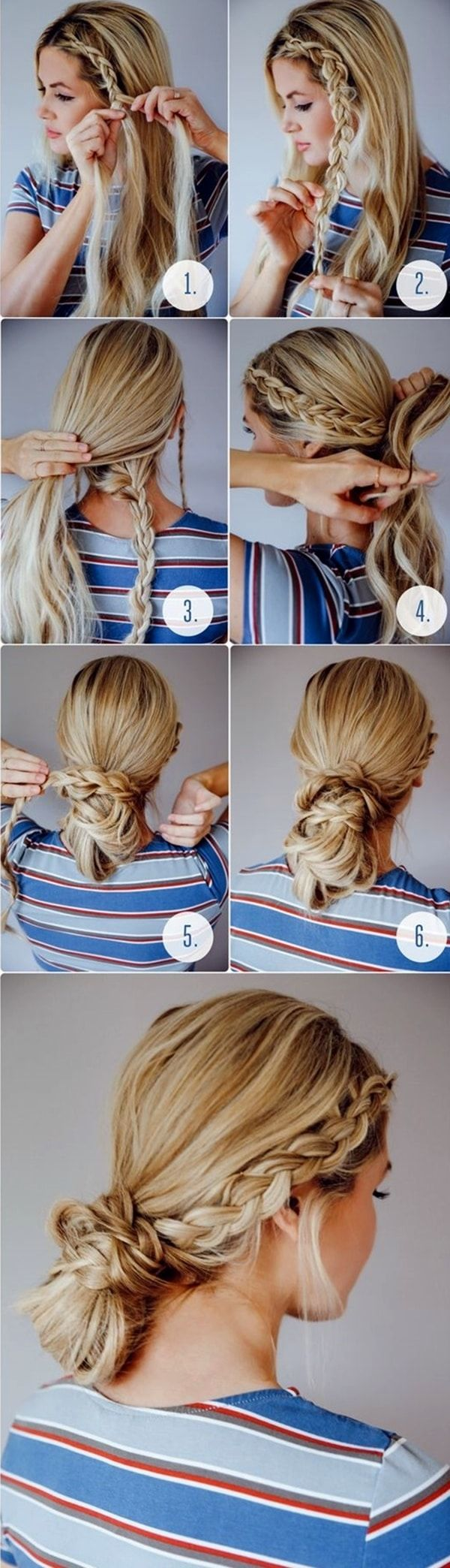 Easy Back to School Hairstyles to Let You Sleep In Later | Long hair styles, Braided bun ...