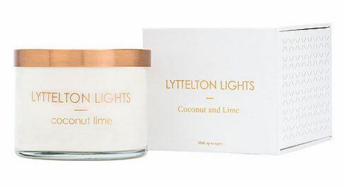 Lyttelton lights candle - Coconut & lime