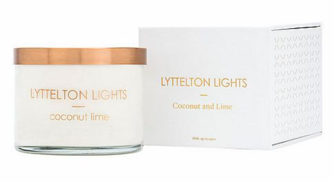 Lyttelton lights candle - Coconut & lime