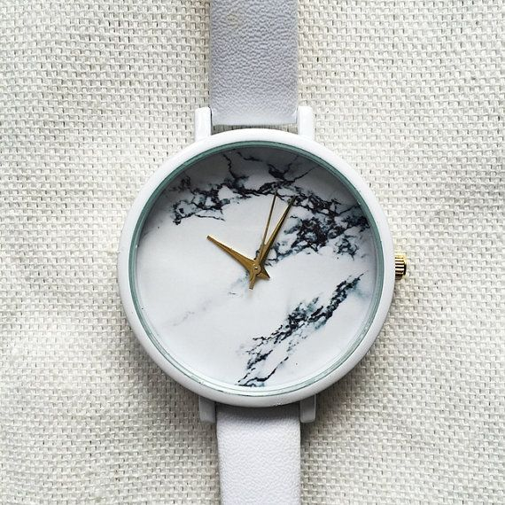 Marble Watch, Women Watches, Wrist Watch, Minimalist Watch, Leather Watch…