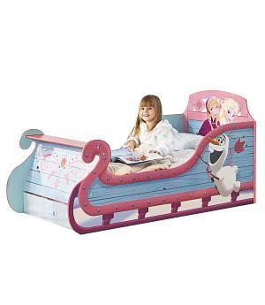 Oferta Cama infantil trineo Frozen . Con colchón y almohada. 452FON +