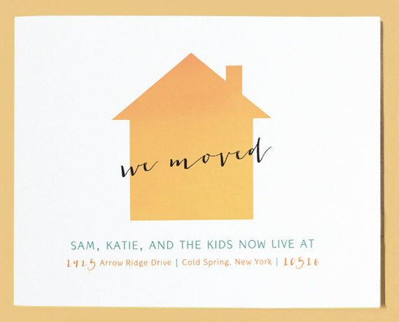 House Silhouette Moving Announcement Postcard
