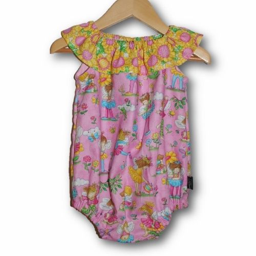 Sunflower Fairies Baby Girls Seaside Rompers, available in SIZE 000, 00 & 0 $22.50