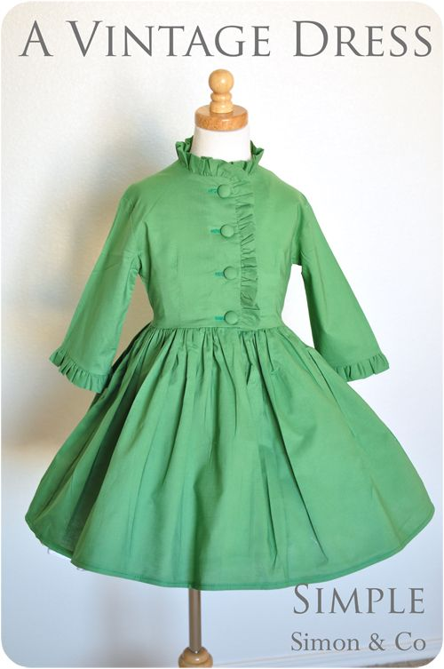 Love this dress...would make a cute Easter coat too with a little modification