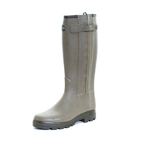 Le Chameau Footwear Men's Chasseur Cuir Rain Boot, Vert Verizon, 42 EU/9 M US -- Click image to review more details.