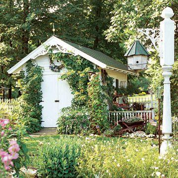 Cottage Garden ShedBirdhouses, Modern Gardens, Cottages Gardens, Cottage Garden Sheds, Cottage Gardens, Potting Sheds, Gardening Tools, Modern Garden Design, Bird Houses