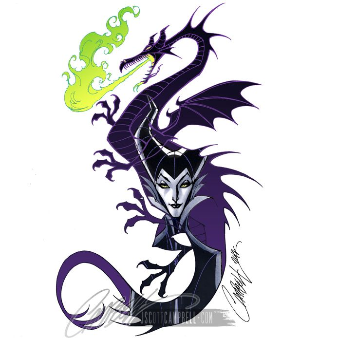 Images of Maleficent from Sleeping Beauty.