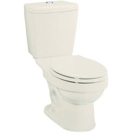 Sterling 402028-96 Karsten 1.6/0.8-GPF 12 inch Rough-In WaterSense Elongated Dual-Flush 2-Piece Standard Height Toilet, Biscuit, White