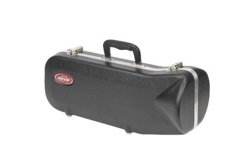 Contoured Trumpet Case. Perfect fit valances with D-Rings for strap  Hardware reinforced with backplates - these latches are mounted forever