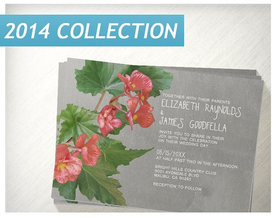 Begonia Wedding Invitations