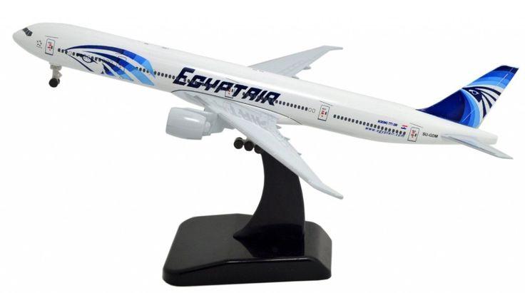 TANG DYNASTY(TM) 1:400 Standard Edition Boeing B777 EgyptAir Metal Airplane Model Plane Toy Plane Model