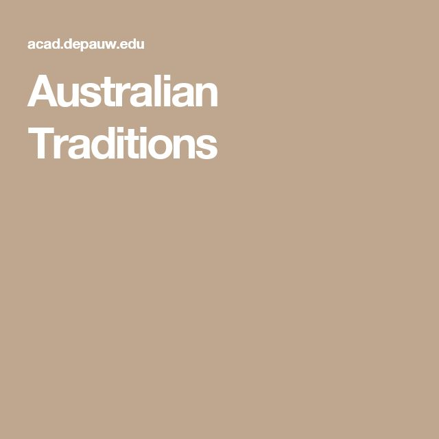 Australian Traditions