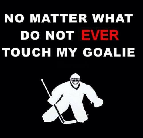 do not EVER touch my goalie
