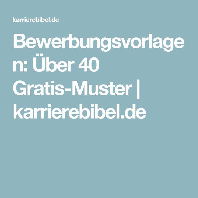 Bewerbungsvorlagen: Über 40 Gratis-Muster | karrierebibel.de