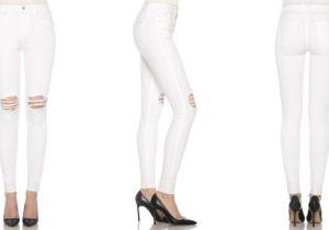 Un paio di jeans bianchi, please!