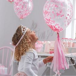 Ballons confettis princesse