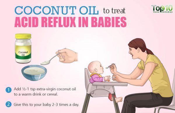 coconut oil for acid reflux in babies