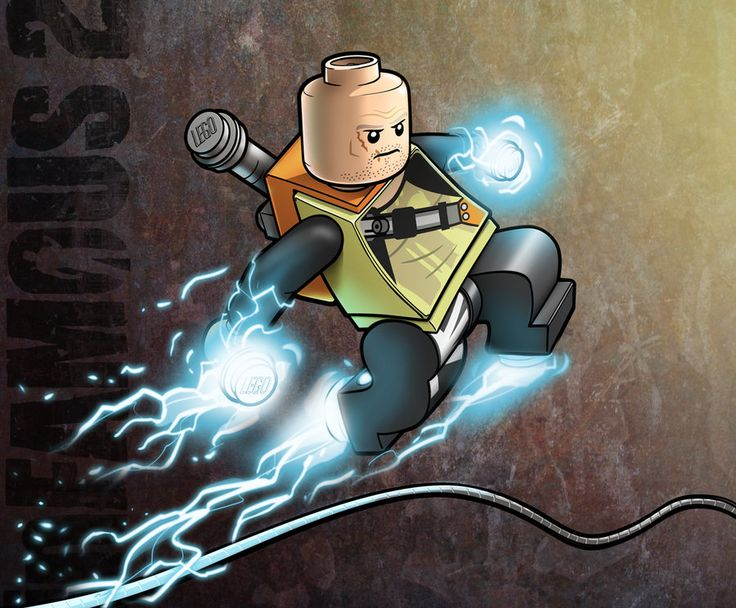 LEGO Cole MacGrath - Infamous 2 by *RobKing21 on deviantART