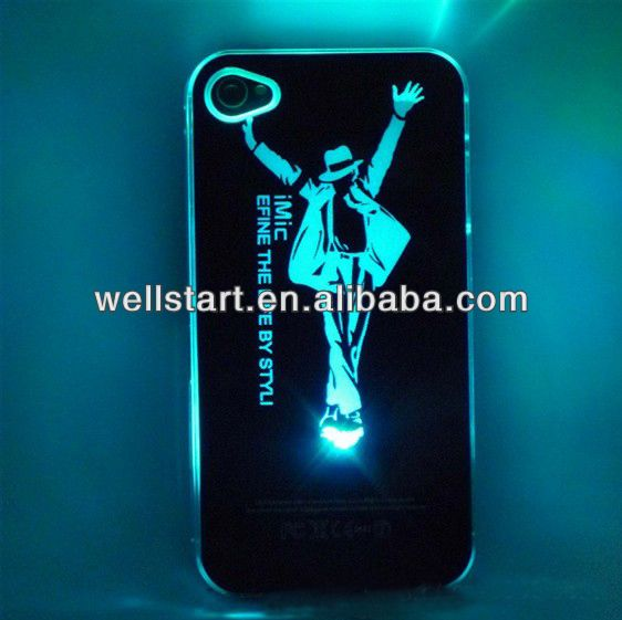 Hot sale Flash LED Light Cover Case for Iphone 5/5s with color changing