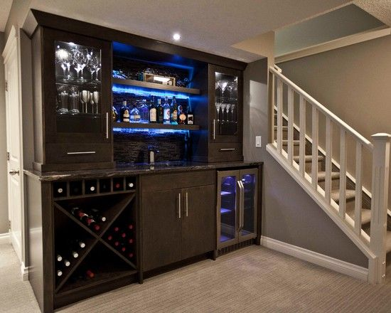 built in bar = no wasted space!