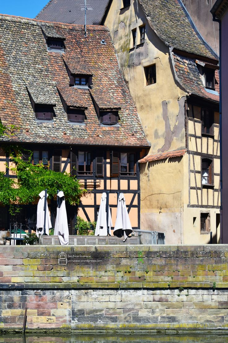 beautiful half-timbered houses in Strasbourg. Visit Strasbourg, France.
