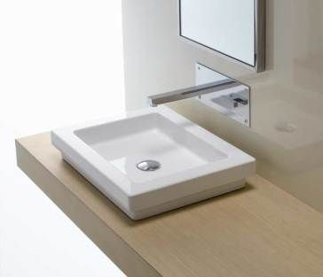 Bissonnet 21110 Countertop and or Semi recessed White Ceramic Sink62 best Sinks images on Pinterest   Bathroom ideas  Bathroom sinks  . Recessed Bathroom Sinks. Home Design Ideas
