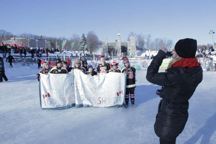 Minor hockey kids come together to celebrate the game.