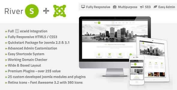 ThemeForest - RiverS Responsive Multi-Purpose Joomla Template Free Download