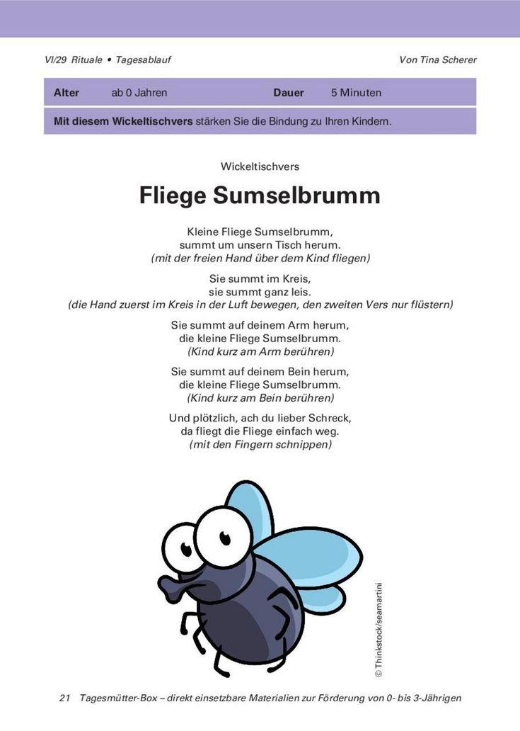 Wickeltischvers: Fliege Sumselbrumm