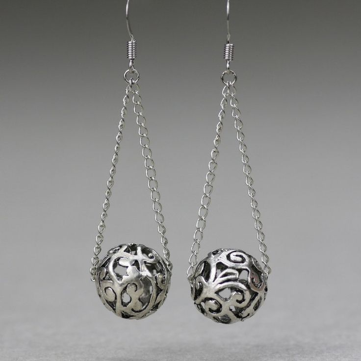 Dangling ball Earrings handmade Free US Shipping by AnniDesignsllc, $12.95