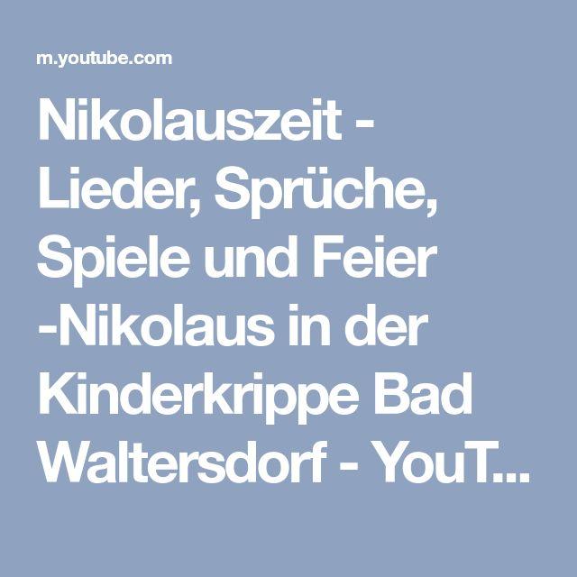 Nikolauszeit - Lieder, Sprüche, Spiele und Feier -Nikolaus in der Kinderkrippe Bad Waltersdorf - YouTube