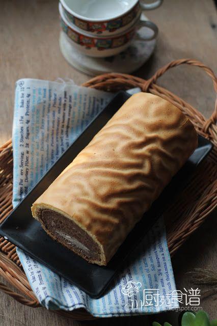 厨苑食谱: 虎来了~ 虎皮可可蛋糕卷 (Tiger Skin Chocolate Swiss Roll)