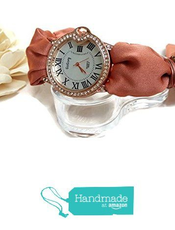 Orologio a Bracciale Donna in seta color corallo Quadrante con numeri romani da HarmonyHourWatches https://www.amazon.it/dp/B01M18K4TN/ref=hnd_sw_r_pi_dp_vxG6xbZ644A8N #handmadeatamazon