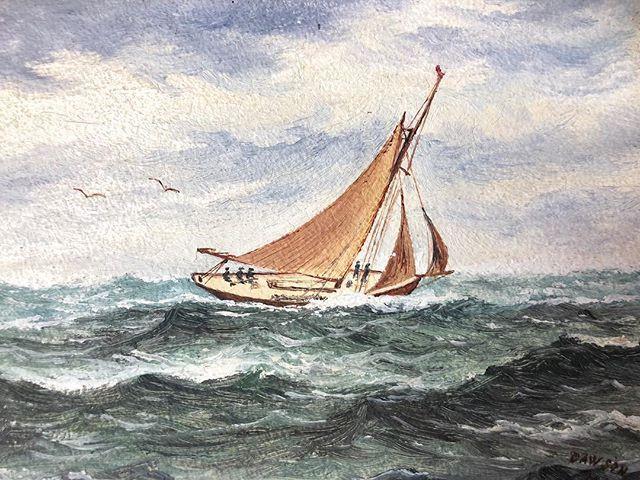 At Full Sail  1908 Oil on Board coming soon to https://ift.tt/2sEmVZq #sailing #antiquepainting #antiqueoilpainting #nauticalart #nauticalpainting #originalart #artshop #artcollection #artwalls #artsource #artlovers #art #vintageart #artandinteriors #vintageartemporium
