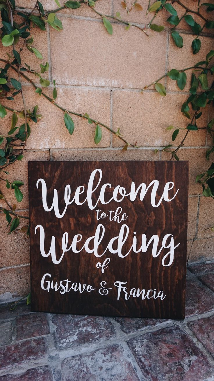 Welcome to the Wedding of Sign Calligraphy Wood Sign Anniversary Sign | Wedding Decor | Home Decor | Garden wedding | Rustic Wedding | Whimsical Wedding Decor | Garden Wedding Decor | Bohemian Wedding Decor Find me on etsy! https://www.etsy.com/shop/LittleBrownnSuitcase
