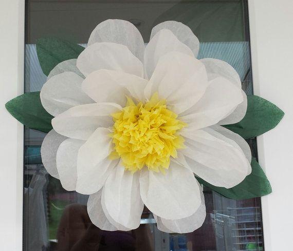 37 best tissue paper flowers uk images on pinterest flowers uk daisy pompom tissue paper flower wall 45cm wedding venue decorations baby shower mightylinksfo