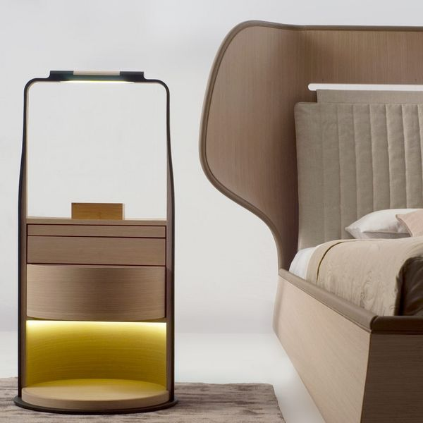 Luminous nightstand design | www.bocadolobo.com #bocadolobo #luxuryfurniture #exclusivedesign #interiodesign #designideas #bedroomideas #nightstandsideas #modernnightstands