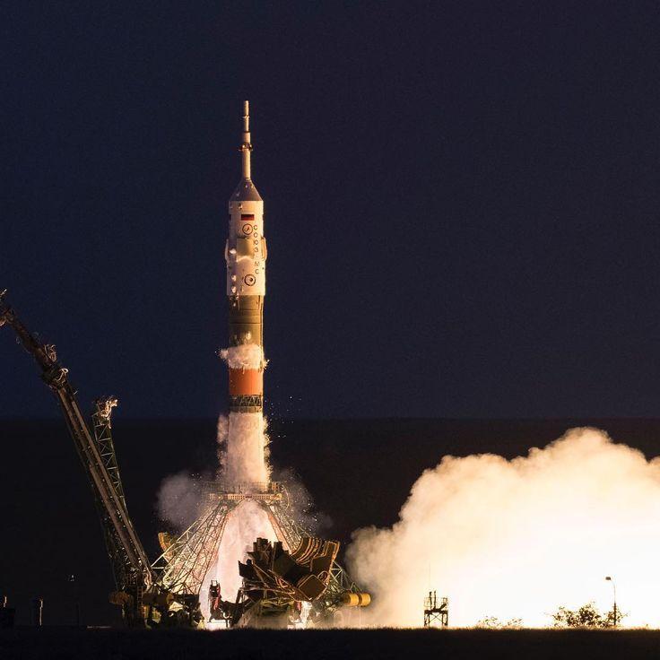 "76.3k Likes, 252 Comments - NASA (@nasa) on Instagram: ""And liftoff! NASA's Randy Bresnik (@astrokomrade), Sergei Ryazanskiy of Roscosmos and Paolo Nespoli…"""