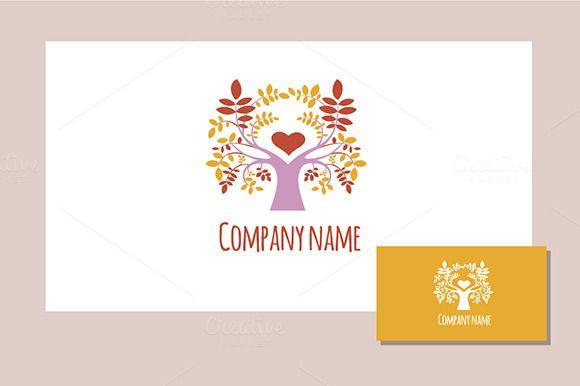 Spring tree logo/multicolor by Darish on @creativemarket