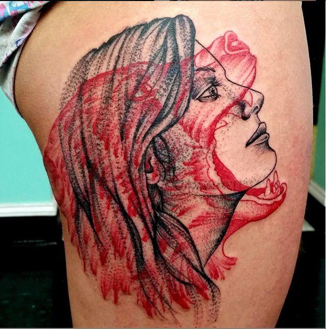 bear and woman tattoo - Google Search
