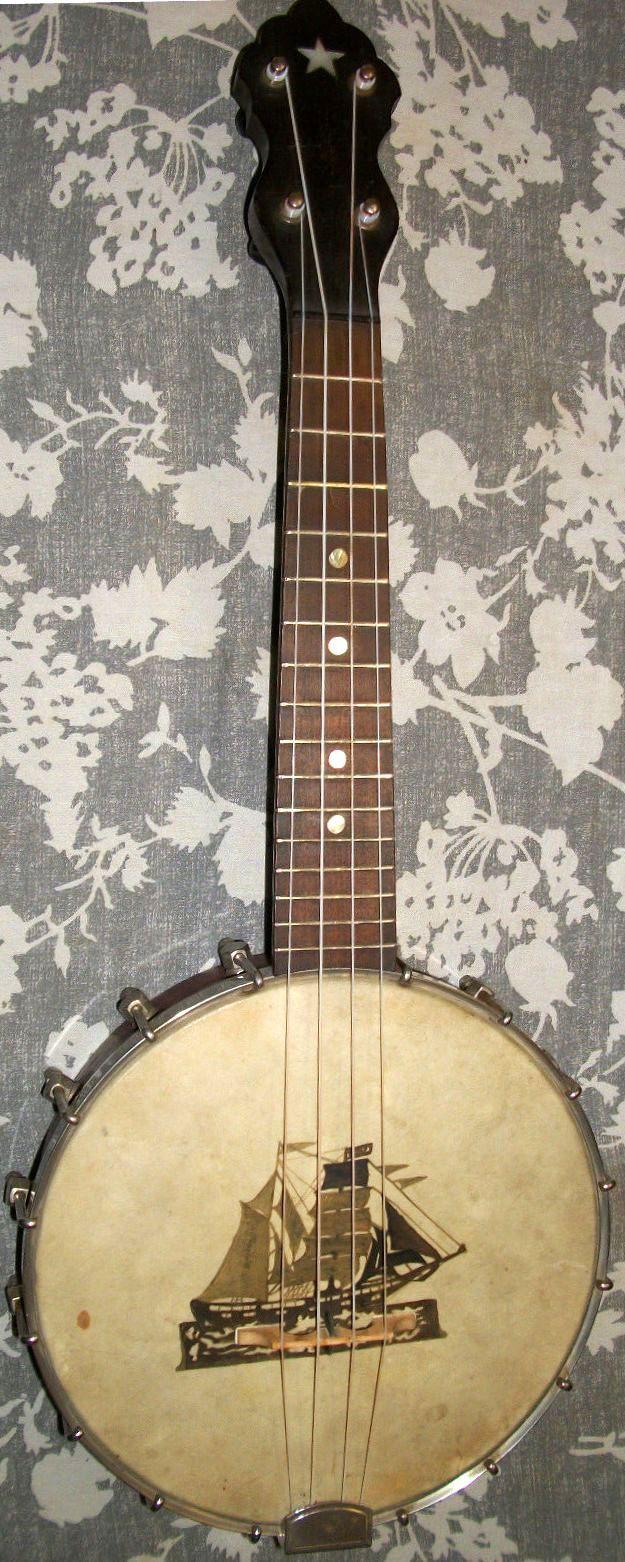 lardyfatboy:  Vega Banjo Ukulele (or possibly 4 string Mandolin? Vega never said Ukulele in the catalogues of the time) Lardys Ukulele of the day - a year ago