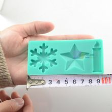 Silicone Snowflake Star Candle Fondant Mold Cake Decorating Sugar Chocolate Tool(China (Mainland))