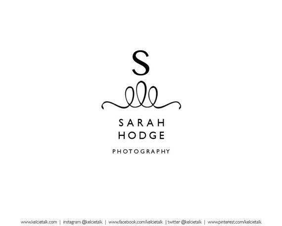 Pre designed company logo - perfect for photographers, #boutiques, #wedding logos, event planners. and #blog headers! http://www.kelcietalkmedia.etsy.com