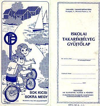 1986 - Takarékbélyeg gyűjtő fedőlapja
