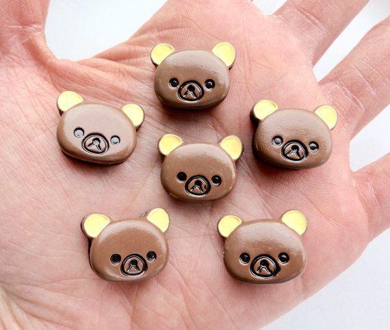 4 pcs  Kawaii Rilakkuma Brown Bear Chocolate by CraftyMissBettie