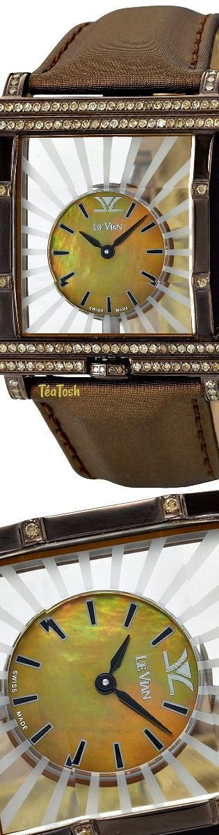 Téa Tosh Le Vian Time® Diamond Unisex Brown Leather Strap Watch (1-7/8 ct. t.w.)