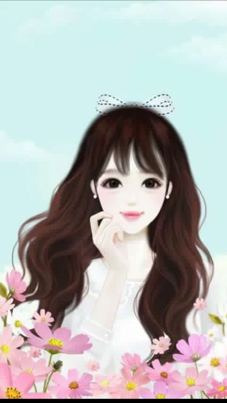 8 best images about cartoonish cute wallpapers on - Cartoon girl wallpaper ...