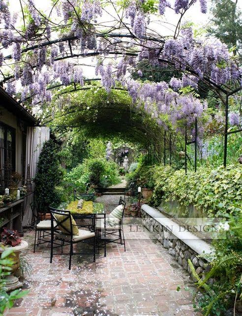 Beautiful backyard garden party setting..