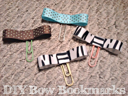 diy bow bookmarks