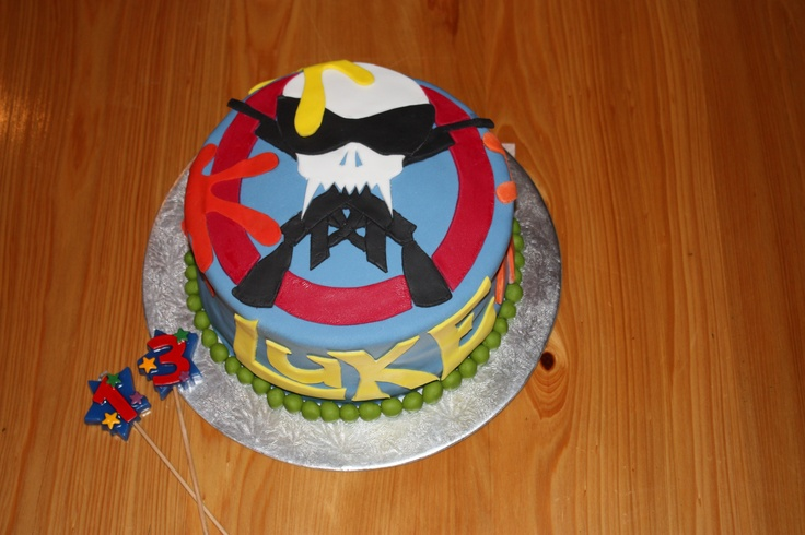 Paintball Cake